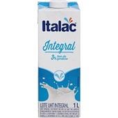 Leite UHT Integral Longa Vida 1L Italac