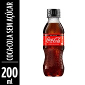 Refrigerante Coca Cola Zero 200ml Pet