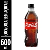 Refrigerante Coca Cola Zero 600ml Pet