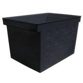 Caixa Arquivo Multiuso Delocolor Larga Preto 1 UN Dello