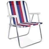 Cadeira de Praia Alta Alumínio Cor 1 1 UN Mor