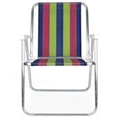 Cadeira de Praia Alta Alumínio Cor 4 Mor