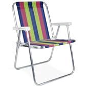 Cadeira de Praia Alta Alumínio Cor 4 1 UN Mor