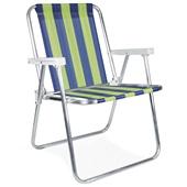 Cadeira de Praia Alta Alumínio Cor 5 1 UN Mor