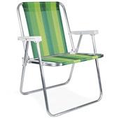 Cadeira de Praia Alta Alumínio Cor 6 1 UN Mor