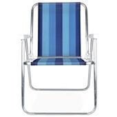Cadeira de Praia Alta Alumínio Cor 7 Mor
