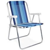 Cadeira de Praia Alta Alumínio Cor 7 1 UN Mor