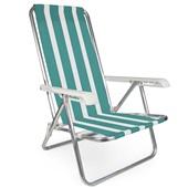 Cadeira Reclinável Alumínio 4 Posições Estampa 4 Mor