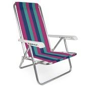 Cadeira Reclinável Alumínio 4 Posições Estampa 5 Mor