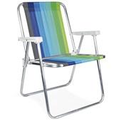 Cadeira de Praia Alta Alumínio Cor 2 Mor