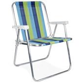 Cadeira de Praia Alta Alumínio Cor 3 Mor