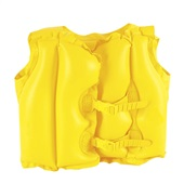 Colete Inflável Infantil Amarelo Mor