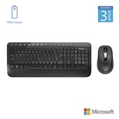 Teclado Mouse Wireless USB Preto M7J-00021 1 UN Microsoft