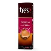 Cápsula de Café Espresso Vibrante Tres 8g CX 10 UN 3 Corações