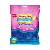 Massa de EVA Flocos Azul Metalizado com Glitter 50g 1 UN Make Mais