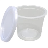 Kit Pote e Tampa de Plástico Redondo PP Liso 145ml PT 30 UN Copaza