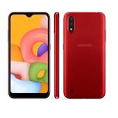 Smartphone Galaxy A01 32GB 2GB Câmera Dupla 13MP Dual Chip Android Vermelho Samsung