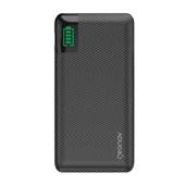 Carregador Portátil Universal 10.000mAh 2 Portas USB 1 Porta USB-C Led Indicador de Bateria Preto Geonav