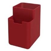 Organizador de Pia Single Coza 8x10,5x12,1cm Vermelho Bold Coza