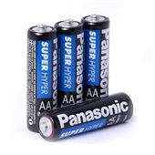 Pilha Comum Pequena AA Super Hyper 4 UN Panasonic