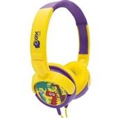 Headphone Kids Dino com Fio Colorido HP300 1 UN Oex