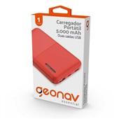 Carregador Portátil 5.000 mAh Essential Vermelho Geonav