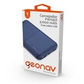 Carregador Portátil 5.000 mAh Essential Azul Geonav