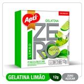 Gelatina Limão Zero Açúcar 12g Apti