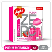Pudim Iogurte Morango Zero Açúcar 30g Apti