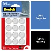 Anti Impacto Scotch Redondo Transparente Grande PT 12 UN 3M