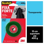 Fita Dupla Face Scotch Transparente 12mm x 2m 1 UN 3M