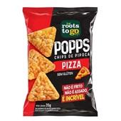 Popps Chips de Pipoca Pizza PT 35g 1 UN Roots To Go