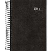 Agenda 2021 Napoli Espiral 130x188mm Preta 176 FL Tilibra