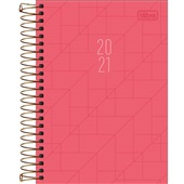 Agenda 2021 Spot Espiral Feminina 200 Folglhas Pink 130x188mm 1 UN Tilibra
