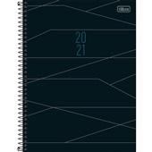 Agenda 2021 Spot Espiral 200 Folhas Preta e Cinza 200x275mm 1 UN Tilibra