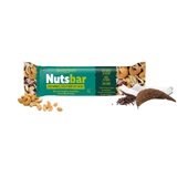 Barra Castanhas Coco Nibs de Cacau Nutsbar 1 UN Banana Brasil