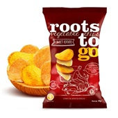 Snack Sweet Potato Chips de Batatas Doces 45g Roots To Go