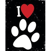 Placa Decorativa Love Pets 1 UN Sinalize