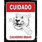 Placa Decorativa Cachorro 1 UN Sinalize