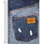 Agenda 2021 Jeans Espiral A 130x188mm 112 FL Tilibra