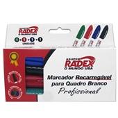 Pincel Marcador Quadro Branco 4 Cores 1 UN Radex