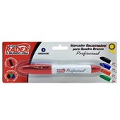 Pincel Marcador Quadro Branco Vermelho 1 UN Radex