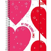 Planner 2021 Love Pink Espiral A 177x240mm 80 FL Tilibra
