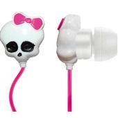 Fone Ouvido Monster High Skull Branco PH106 1 UN Multilaser