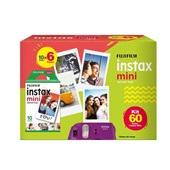 Kit Filme Instax Mini Pack com 60 Fotos 1 UN Fujifilm