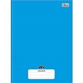 Caderno Pedagógico Linguagem Universitário Capa Dura 96 Folhas Azul Tilibra