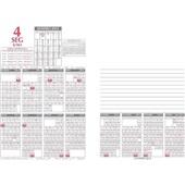 Refil Calendário Financeiro Modelo 360 1 UN Redoma