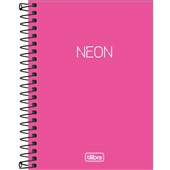 Caderneta Espiral Capa Plástica 1/8 sem Pauta Neon Rosa 80 FL 1 UN Tilibra
