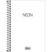 Caderno Espiral Capa Plástica 1/4 Neon Branco 80 FL 1 UN Tilibra