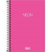 Caderno Espiral Capa Plástica 1/4 Neon Rosa 80 FL 1 UN Tilibra